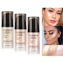 SACE LADY Liquid Highlighter Shimmer Waterproof Makeup Ultra-Smooth Illuminator Face and Body Make Up Cream