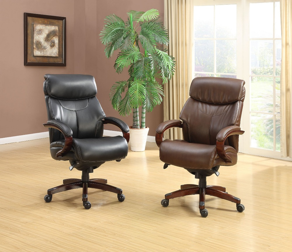 High-Back Big&Tall Executive Manager Leather Office Desk Chair Modern Ergonomic Computer Chair Furniture Racing Office Chair 240340 high quality back pillow office chair 3d handrail function computer household ergonomic chair 360 degree rotating seat