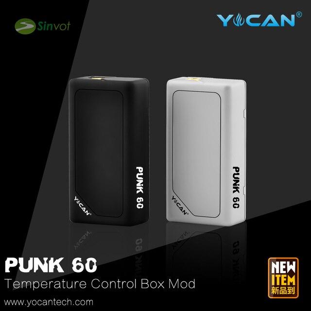 2015 новейший оригинал Yocan Панк 60 Вт окно мод контроля Температуры 1-60 Вт электронной сигареты mod ПРОТИВ smy 120 Вт свободный корабль