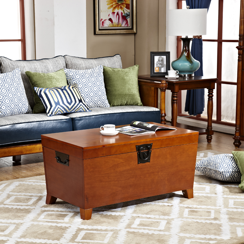 The New Solid Wood Coffee Table Retro American Country