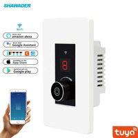 WIFI Smart Dimmer Wall Light Switch Knob Infinite Intelligent US Regulation 360 free Rotary Rotation Tuya Remote Voice Control