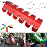 For HONDA CRF450X CRF250X CRF250L CRF 450X 250LX 250L Motorcycle Front Manifolds Exhaust Shield Protector Cover