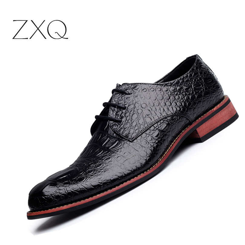 Brand Genuine Leather Men Shoes Crocodile Pattern Hand-made Casual Flats Men Business Oxfords Male Leather Shoes leather casual shoes zapatillas hombre casual sapatos business shoes oxford flats hand made man shoe free shipping sv comfort