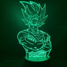 Cool Kids Led Nightlight Dragon Ball Z Goku Figure Night light for Child Bedroom Decor Anime 3D Illusion Lamp Saiyan