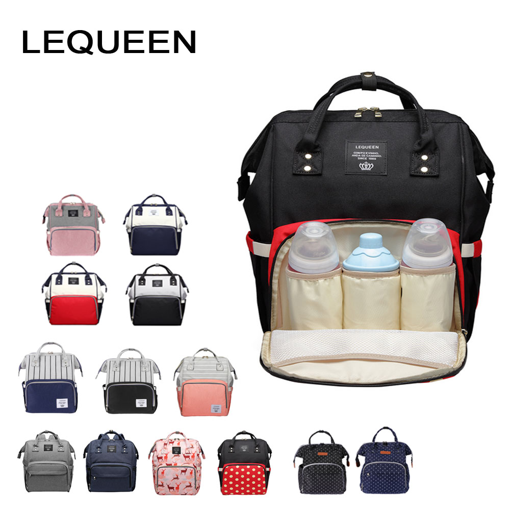 41f91557353 LEQUEEN Fashion Mummy Maternity Nappy Bag Large Capacity Baby Bag Travel  Backpack Designer Nursing Bag for Baby Care -in Diaper Bags from Mother    Kids on ...