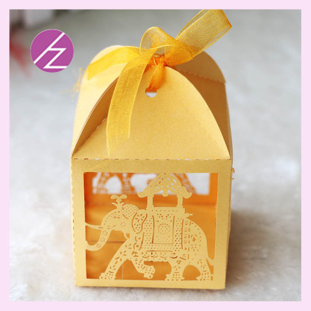 50psc India Ganesh Chathurthi Baby Shower Favor Box Paper Gift Candy Decoration Favors Mini Cute