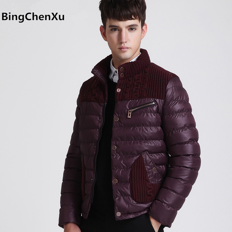 Fashion overcoats men winter down jacket men's warm cotton coat casual outerwear thick parka fashion windbreaker plus size 438