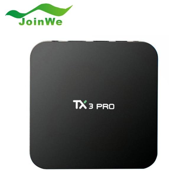 2016 S905X TX3 PRO Android 6.0 TV Box Amlogic Quad core 1G 8G Reproductor Multimedia HDMI H.265 WIFI Media Player Smart tv caja