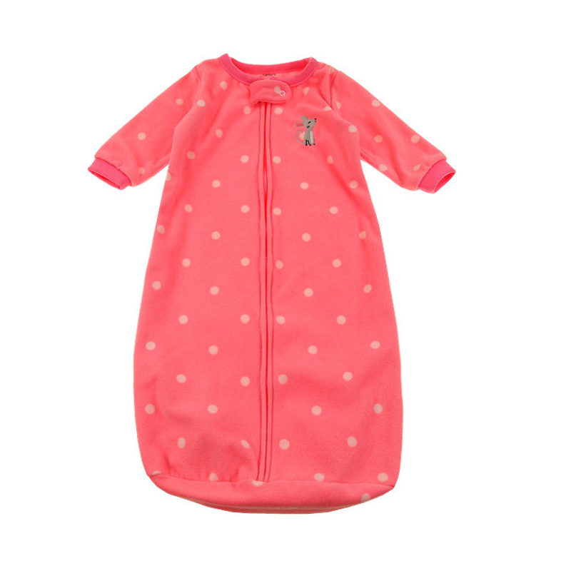 Baby-Sleeping-Bag-Cute-Sleep-Sack-For-Newborn-Polar-Fleece-Infant-Clothes-style-sleeping-bags-Sleeve-Romper-for-0-9M-gigoteuse-X-4