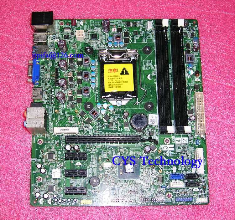 Free shipping CHUANGYISU for original XPS 8500 motherboard DH77M01 YJPT1 0YJPT1 LGA1155 chipset H77 work perfect