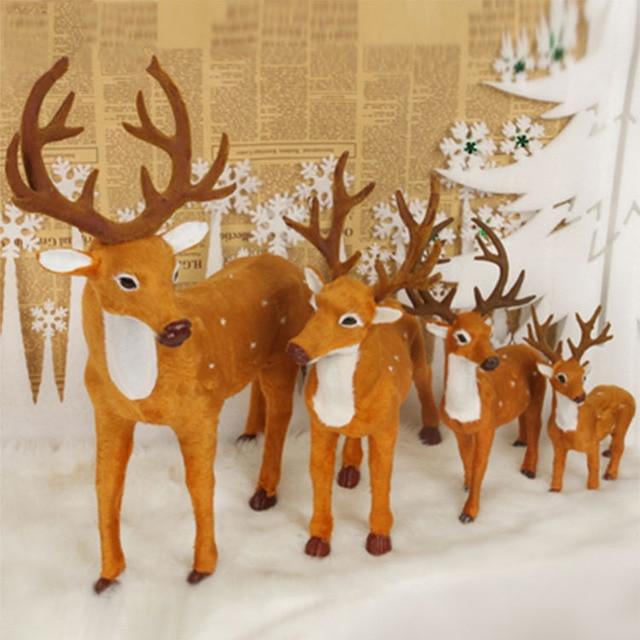 1Pc Christmas Elk Plush Simulation New Year Christmas Decorations Christmas Ornaments for Home Christmas Gift #254247