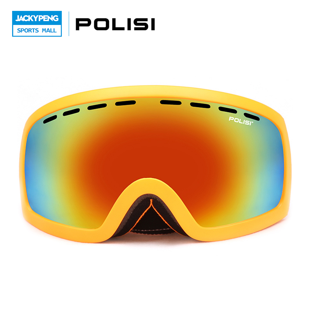ФОТО POLISI Winter Skiing Skate oggle Outdoor Sport UV400 Snowboard Eyewear Double Layer Anti-Fog Lens Ski Skateboard Snow Glasses