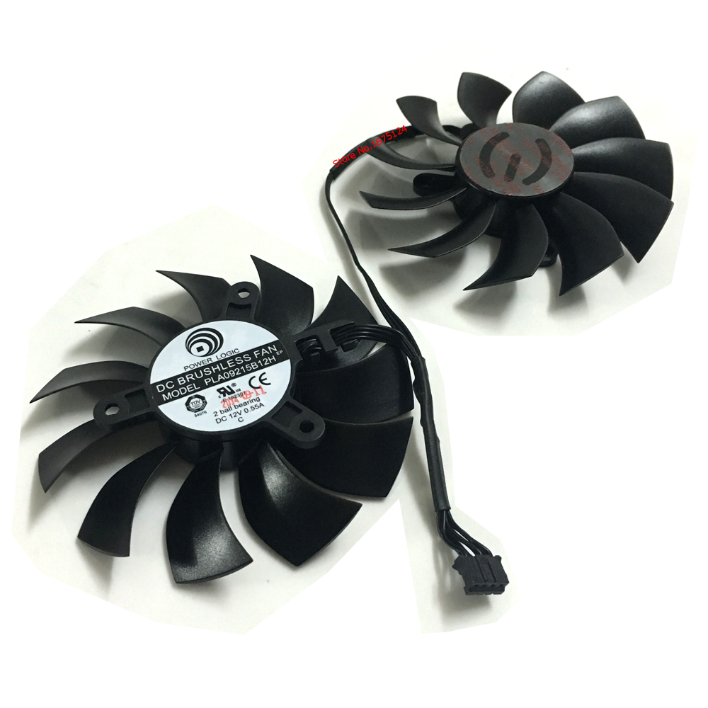 Free shipping 2 Pcs/Lot PLA09215B12H 4Pin VGA Cooler Graphics Card Fan For EVGA GTX970 ACX2.0 Video Cards Cooling system купить