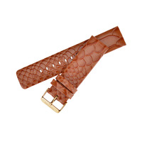 New Product Snake Mark Watchband Genuine Leather Watch Band 22mm High Quality Watch Strap Stainless Steel
