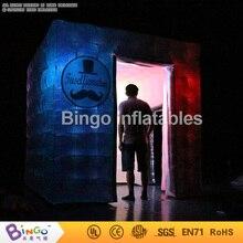 Plata fotomatón inflable con iluminación led para la boda/el partido/eventos/alquiler BG-A1118 tienda del juguete