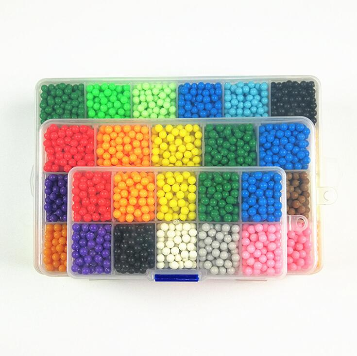 цена на Water Aqua Beads 3D Puzzle Kids Toys Birthday Gift Hama / Perler Beads Fuse Beads Jigsaw Puzzle Water Beadbond Educational DIY