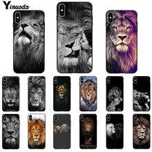 11pro MAX animals The lion Smart Cover черный мягкий чехол для телефона для iPhone X XS MAX 6 6S 7 7plus 8 8Plus 5 5S XR