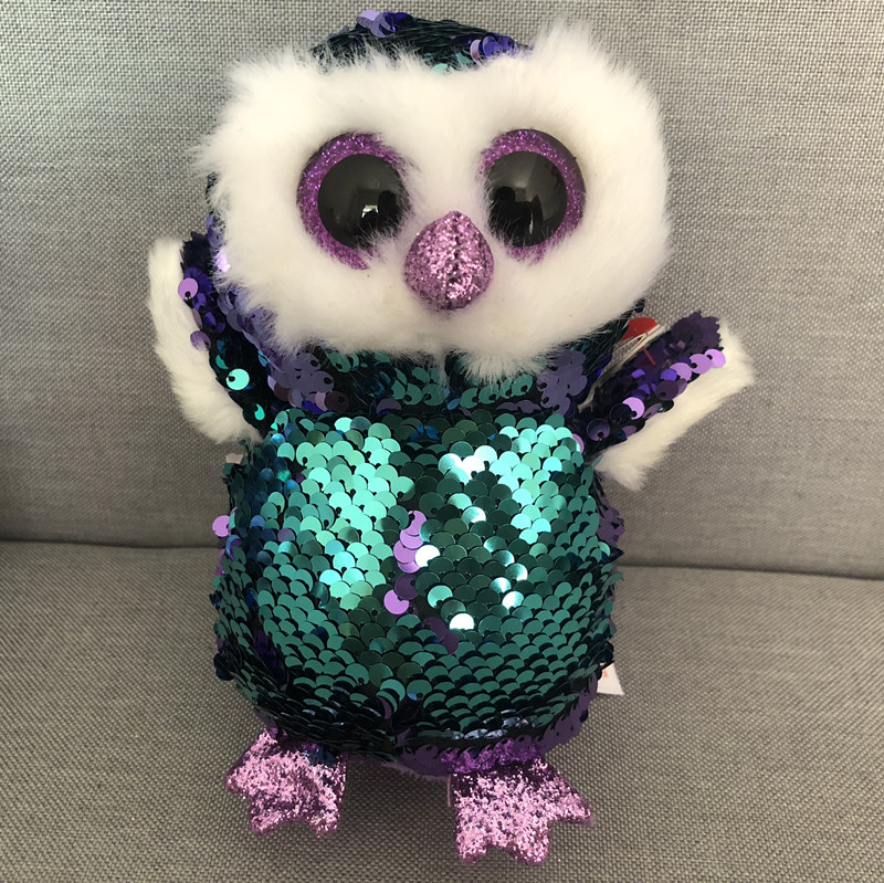 d468bbb1d6a Ty 6   15cm Beanie Boos Owl Unicorn Penguin Poodle Dog Fox Dragon Bat Plush