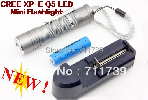 TK66 CREE XPE Q5 mini LED Flashlight torch Portable cree led torch medical Flashlight For AA or 14500+14500 battery charger