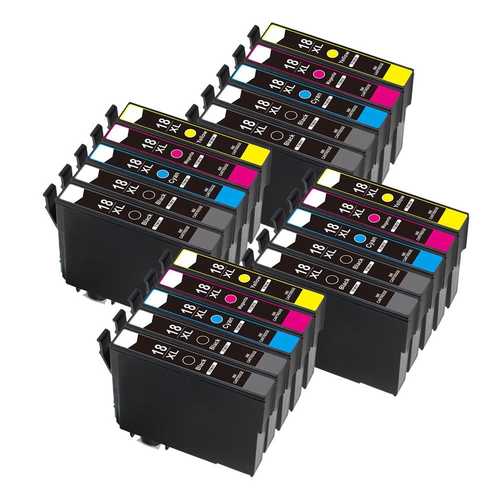 20x T1811 - T1814 Ink Cartridge For XP212 XP215 XP225 XP312 XP315 XP412 XP415 XP202 XP205 XP302 XP305 XP402 XP405 Printer