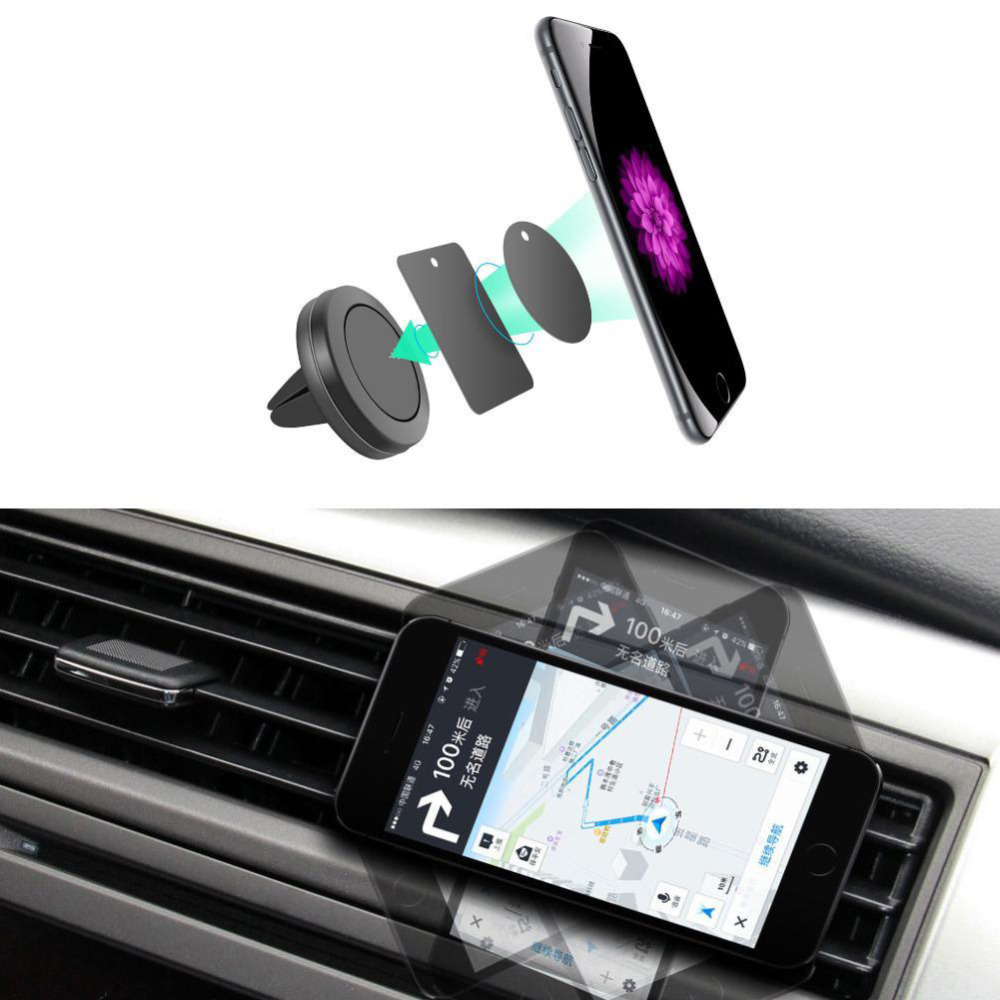 support de voiture mini air vent mount aimant magn tique t l phone portable support mobile. Black Bedroom Furniture Sets. Home Design Ideas
