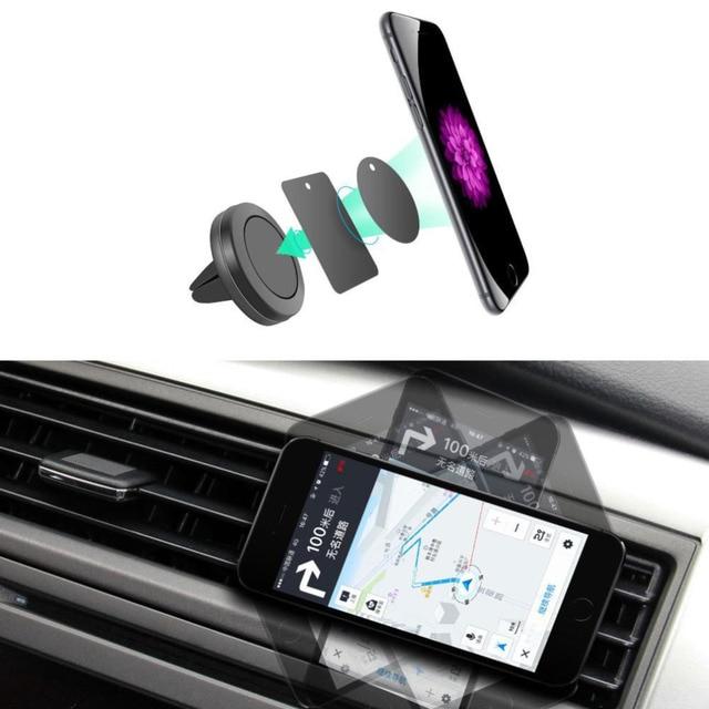 support de voiture mini air vent mount aimant magn tique t l phone portable support mobile. Black Bedroom Furniture Sets. Home Design Ideas
