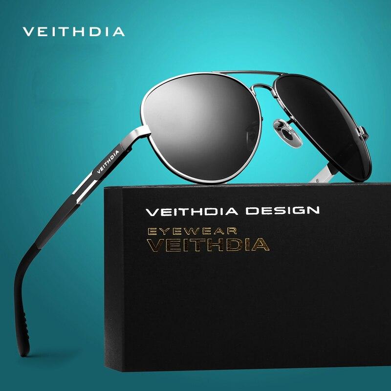 VEITHDIA Aluminium Magnesium männer Sonnenbrille Polarisierte Sonnenbrille Männliche Klassische Eyewears Zubehör Männer Oculos de grau 6695