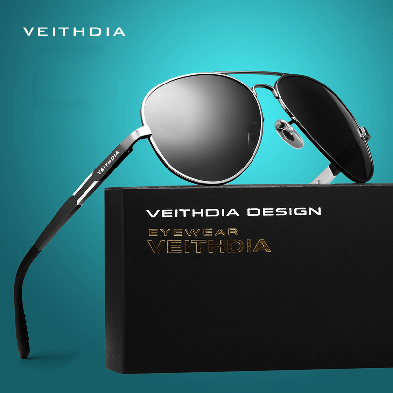 VEITHDIA Aluminij Magnezijeva sončna očala Polarizirana sončna očala Moška klasična Očala Dodatki Moški Oculos de grau 6695