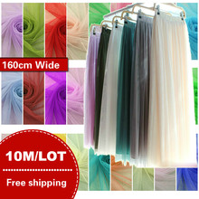 e2d1c81c68 10meters/lot Soft tulle fabric netting cloth solid color 160cm wide 100%  polyester mesh ground tutu skirt roll for wedding dress