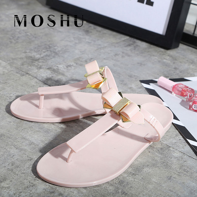 Fashion Flip Flops Women Sandals Butterfly Knot Beach Shoes Summer Slippers Fringe Slides  Ladies Casual Shoes women sandals 2017 summer shoes woman flips flops wedges fashion gladiator fringe platform female slides ladies casual shoes