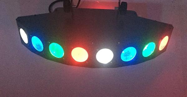 Professional Stage 8 Lighting Heads  Laser Light For DJ KTV bar Sound Control Performance Colorful AC110-220V 9 colors led stage lamp 30w ktv dj 6 channel dmx laser light bar lights sound control music control flicker stage light