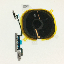 Original Wireless Charging Chip Coil & Volume Switch Flex Cable with Metal Bracket Assembly For iPhone X Replacement Parts