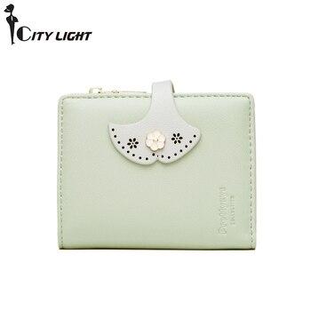 New Leather Small Wallet Women Luxury Brand Famous Women Wallets Purses Female Short Coin Zipper Purse Credit Card Holder