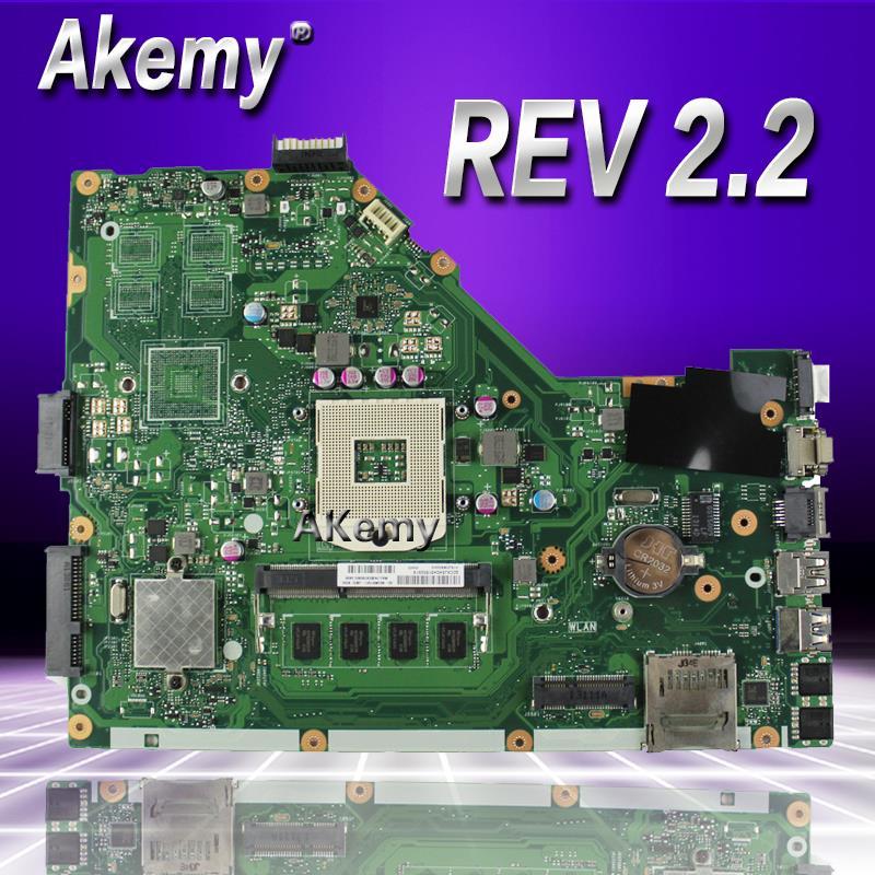 Akemy X55C 2 GB RAM carte mère REV 2.2 pour ASUS X55C X55VD X55V X55CR carte mère d'ordinateur portable SLJ8E HM76 DDR3 100% testé livraison gratuite