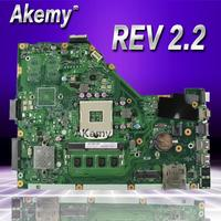 Akemy X55C 2GB RAM Mainboard REV 2.2 For ASUS X55C X55VD X55V X55CR Laptop Motherboard SLJ8E HM76 DDR3 100% Tested Free Shipping