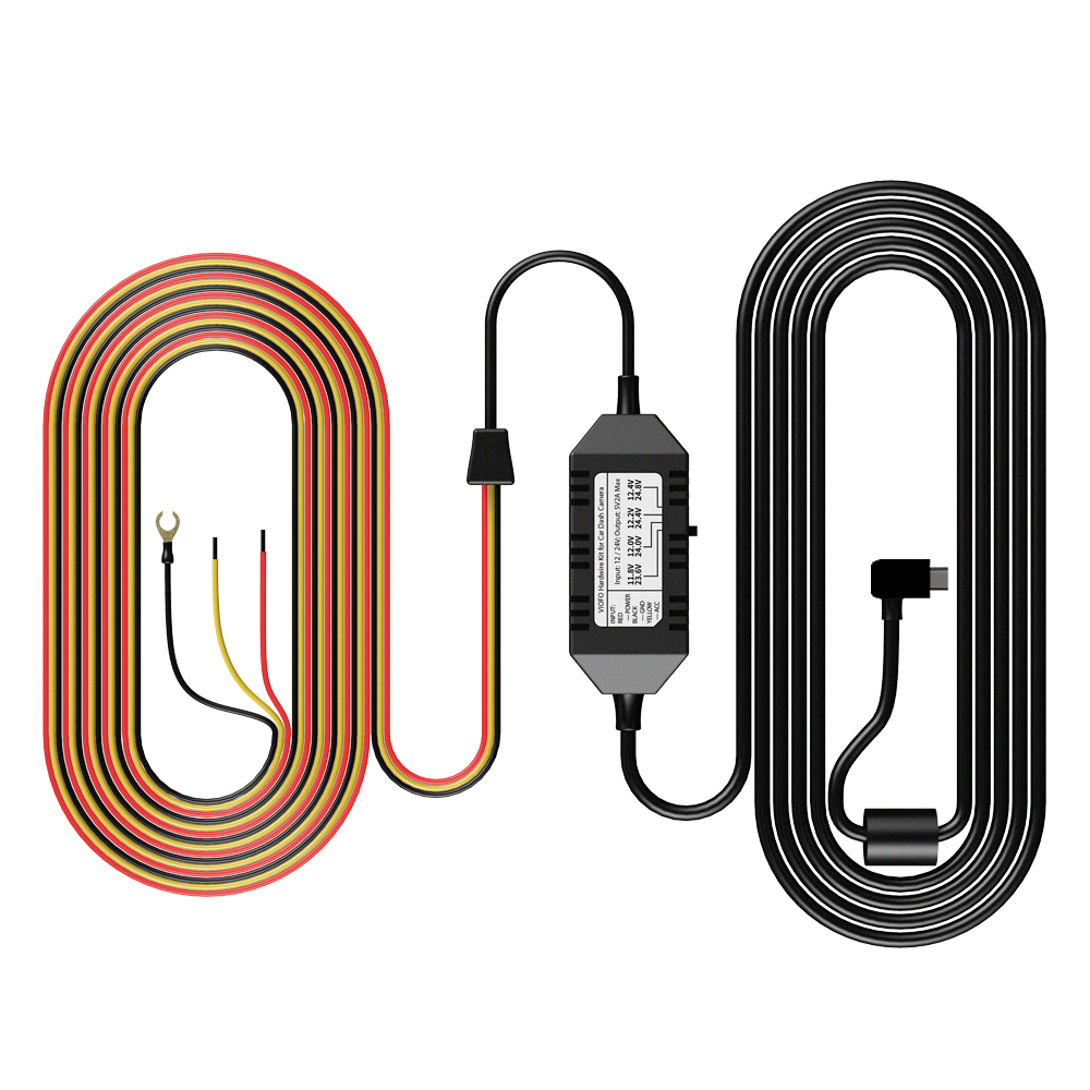 Viofo A129 A119 V3 caméra de voiture 3 fils ACC câble de Kit de fil dur HK3 pour le Mode de stationnement en option Mini/Micro2/ATC/ATS fusible