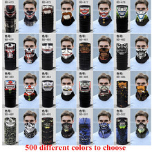 Halloween Festival Skull Masks Skeleton Outdoor Motorcycle Bicycle Multi Function Neck Warmer Ghost Half Face Mask Scarves D8