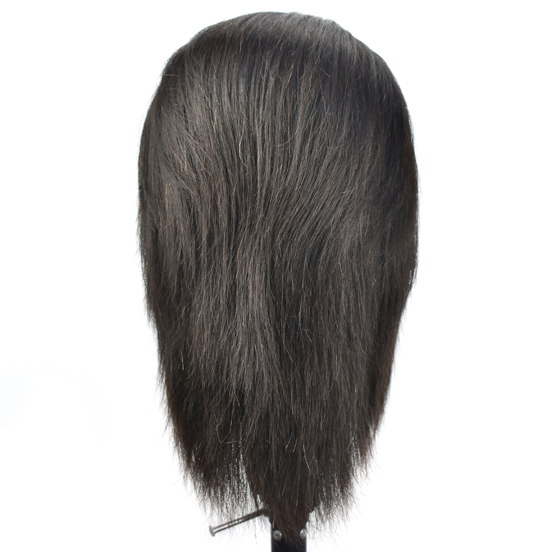Training Maniqui Head For Hairdresser Real Hair With Beard Mannequin Head With Human Hair Hairdressing Doll Heads Manikin Head