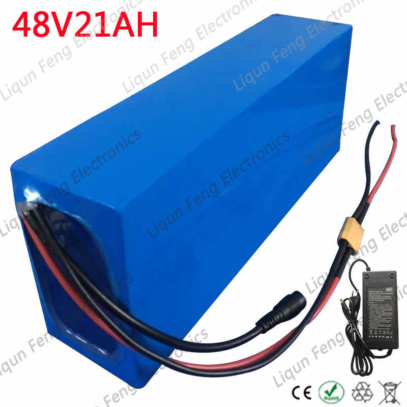 High Power 2000W 48V 20AH Electric Bicycle Battery 48V 20AH EBike Battery 48 Volt Lithium Battery with 50A BMS 2A Charger No Tax