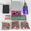 Ногтей маникюр машина и электрические дрели маникюр + 300 шт. шлифовальные полосы 30 шт. ногтей сверла