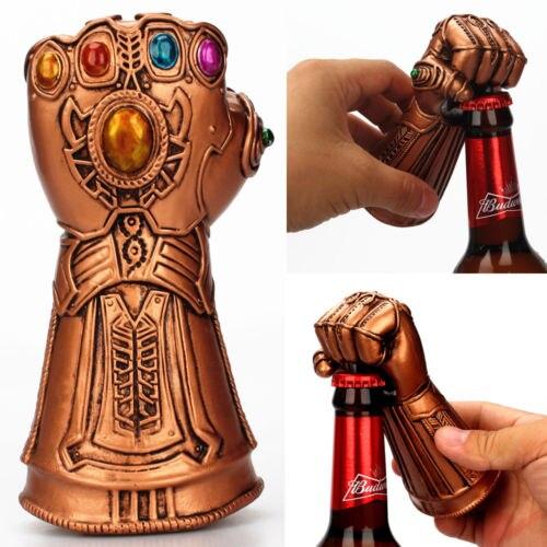 Kreative Mehrzweck Unendlichkeit Thanos Gauntlet Glove Bier Flasche Opener Modische Nützliche Soda Glas Kappe Entferner Werkzeug Haushalt