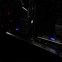 JY SUS304 Blue Illuminated LED Door Sill Scuff Plate Guard Car Styling Protection Accessories Fit For