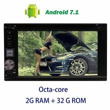 Android 7.1 Car DVD Player 2din car audio in Dash 6.2inch Octa-core GPS Navigation Headunit support OBD2,Digital TV,DVR,CAMERA.