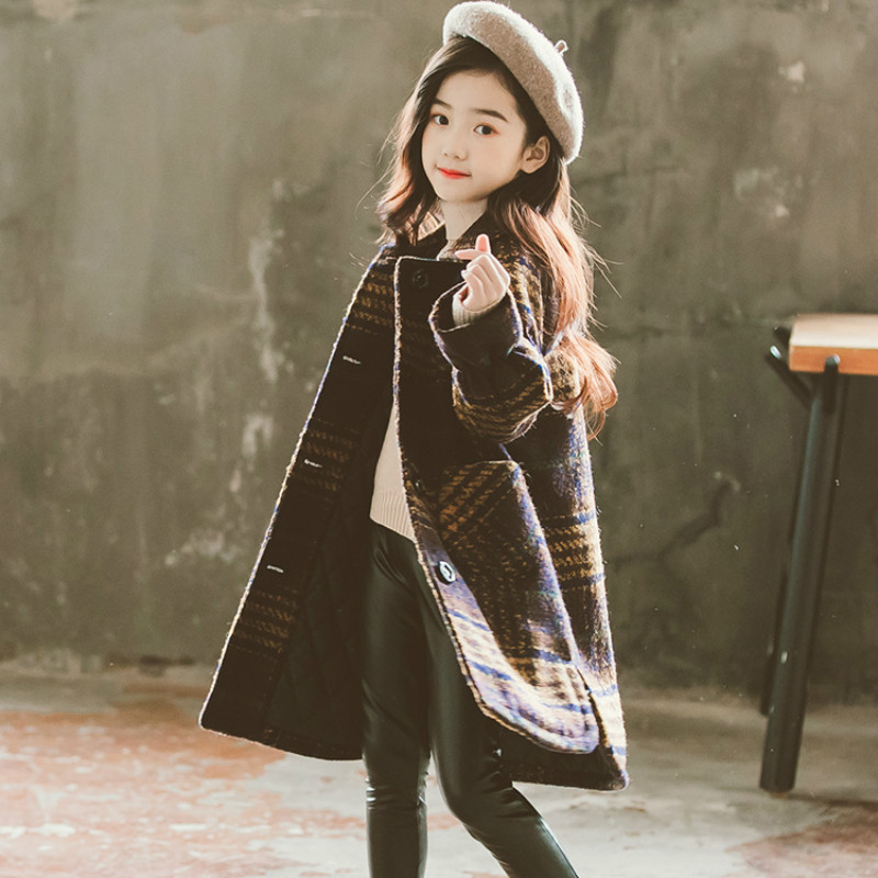 Autumn And Winter Baby Girls Coat Woolen Trench Children Outwear Kids Fashion Top Quality Long Children OutwearAutumn And Winter Baby Girls Coat Woolen Trench Children Outwear Kids Fashion Top Quality Long Children Outwear