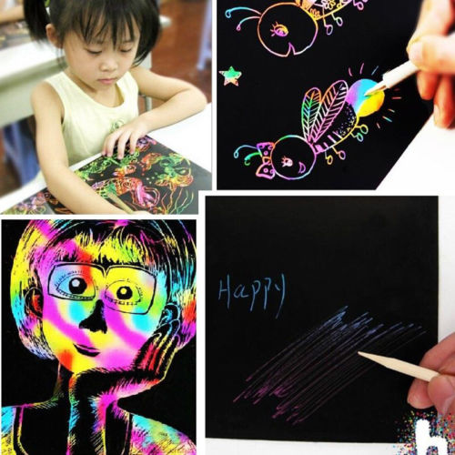 10-Sheets-16K-Colorful-Magic-Scratch-Art-Painting-Paper-With-Drawing-Stick-Gift-1