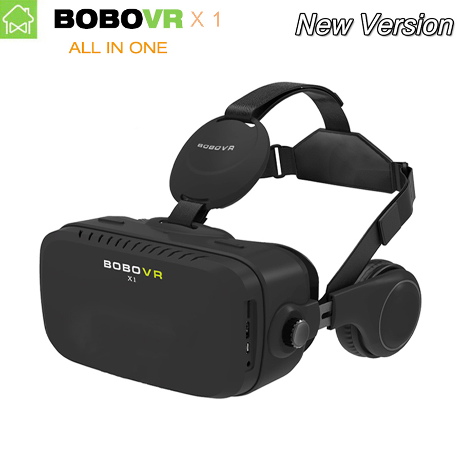 Original BOBOVR X1 all in one VR BOX google Cardboard Octa core 1080P Virtual Reality 3D VR Glasses with headphones 32G storage