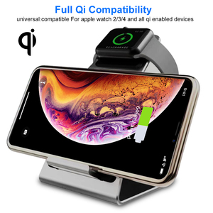 Image 2 - Ascromy מהיר אלחוטי מטען עבור iPhone X XS Max XR 8 בתוספת Samsung S8 S9 בתוספת הערה 9 כרית שעון 4 3 2 1 Stand טלפון qi מטען