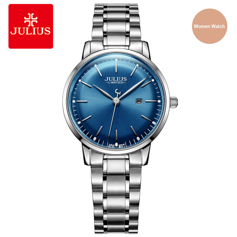Julius Original Designer UltraThin Limited Edition Women Watch Simple Slim Dial Auto Date Full Steel Ladies Montre Clock JAL-040 clinical cardiology made ridiculously simple edition 4 medmaster ridiculously simple