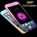 Casos de lujo de 360 grados de protección de cuerpo completo para iphone 6 para iphone 6 s plus cubierta de cristal templado + gradiente de moda accesorios
