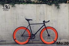 1 unidades de Bicicletas Fixed gear fixie bike 46 cm 52 cm 56 cm de BRICOLAJE de una sola velocidad bicicleta de carretera pista fixie bicicleta fixie bike